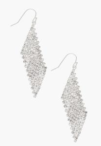 Mesh Rhinestone Earrings