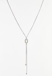Rhinestone Cupchain Necklace