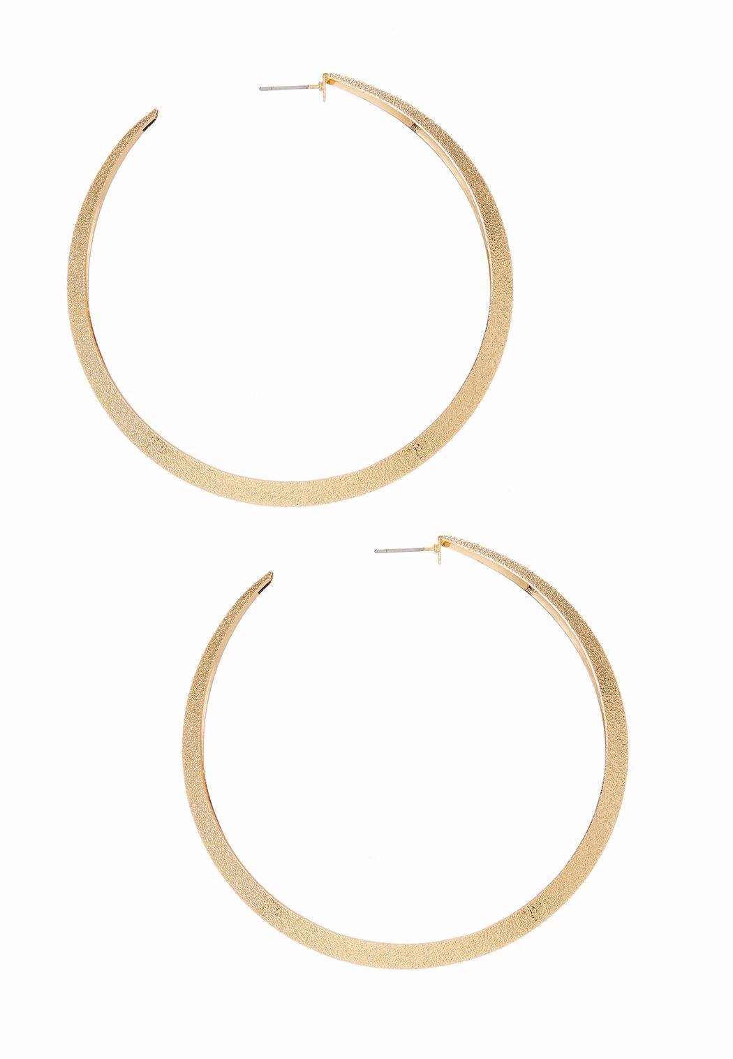 Diamond Dust Hoop Earrings