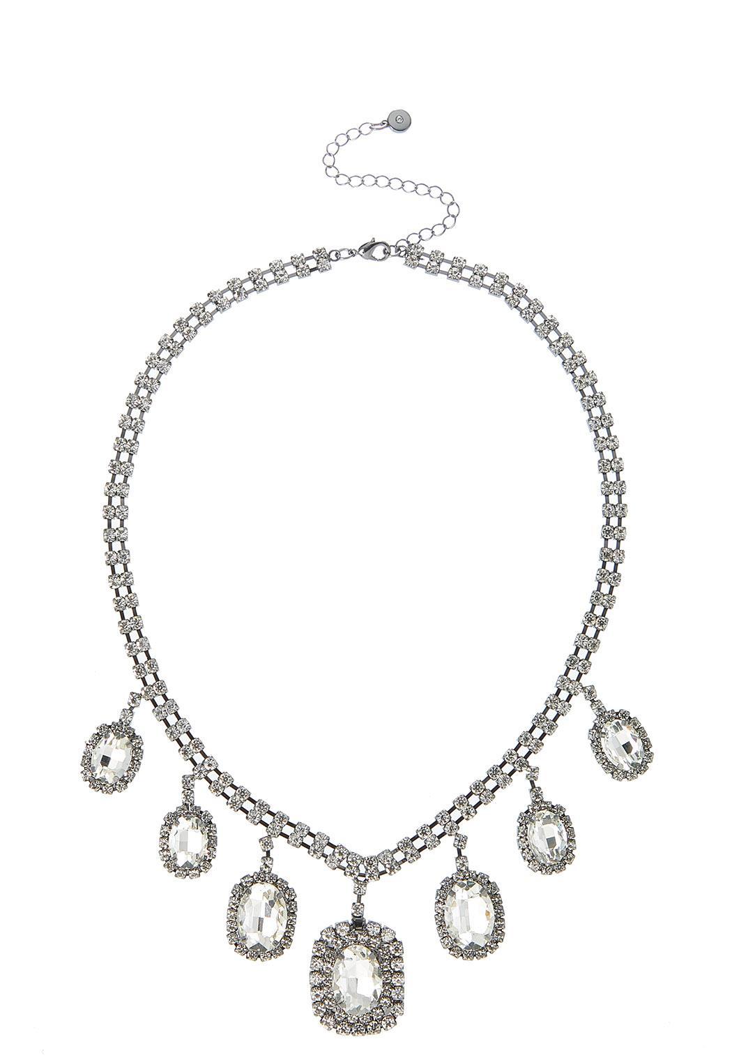 Cupchain Rhinestone Bib Necklace