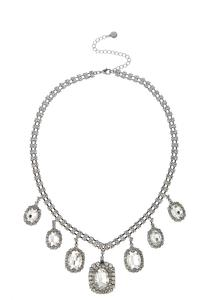 Cupchain Rhinestone Bib Necklace