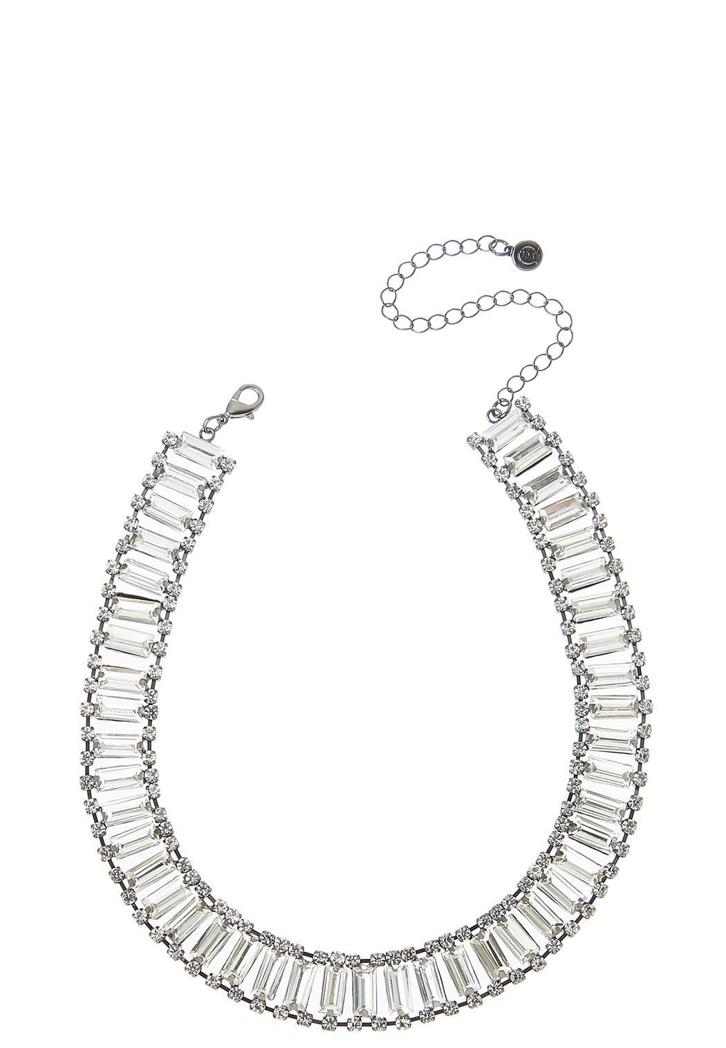 Glass Rhinestone Choker Necklace