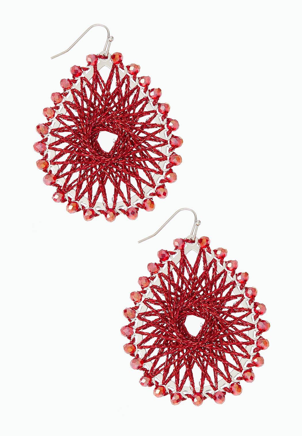 Threaded Sunburst Earrings