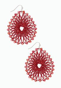 Threaded Sunburst Earrings