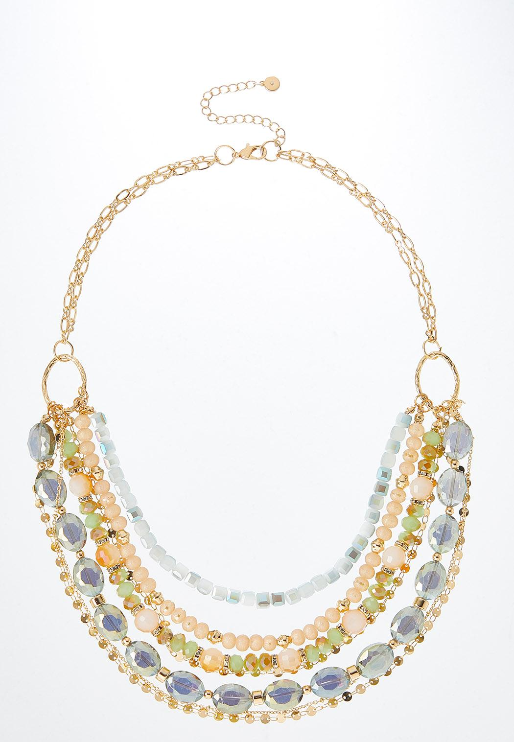 Gorgeous Mixed Bead Swag Necklace