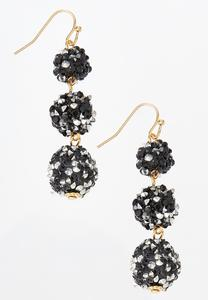 Tiered Crystal Bead Earrings