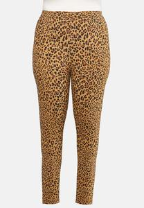 Plus Size Leopard Leggings