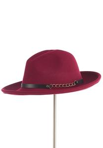 Wine Panama Hat