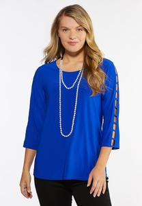 Plus Size Ladder Sleeve Top