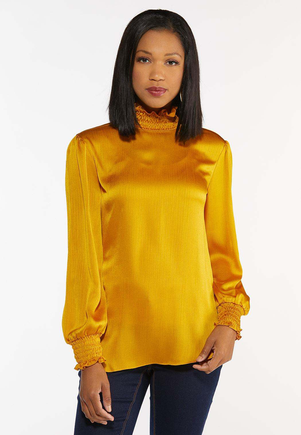 Plus Size Dressy Smocked Top