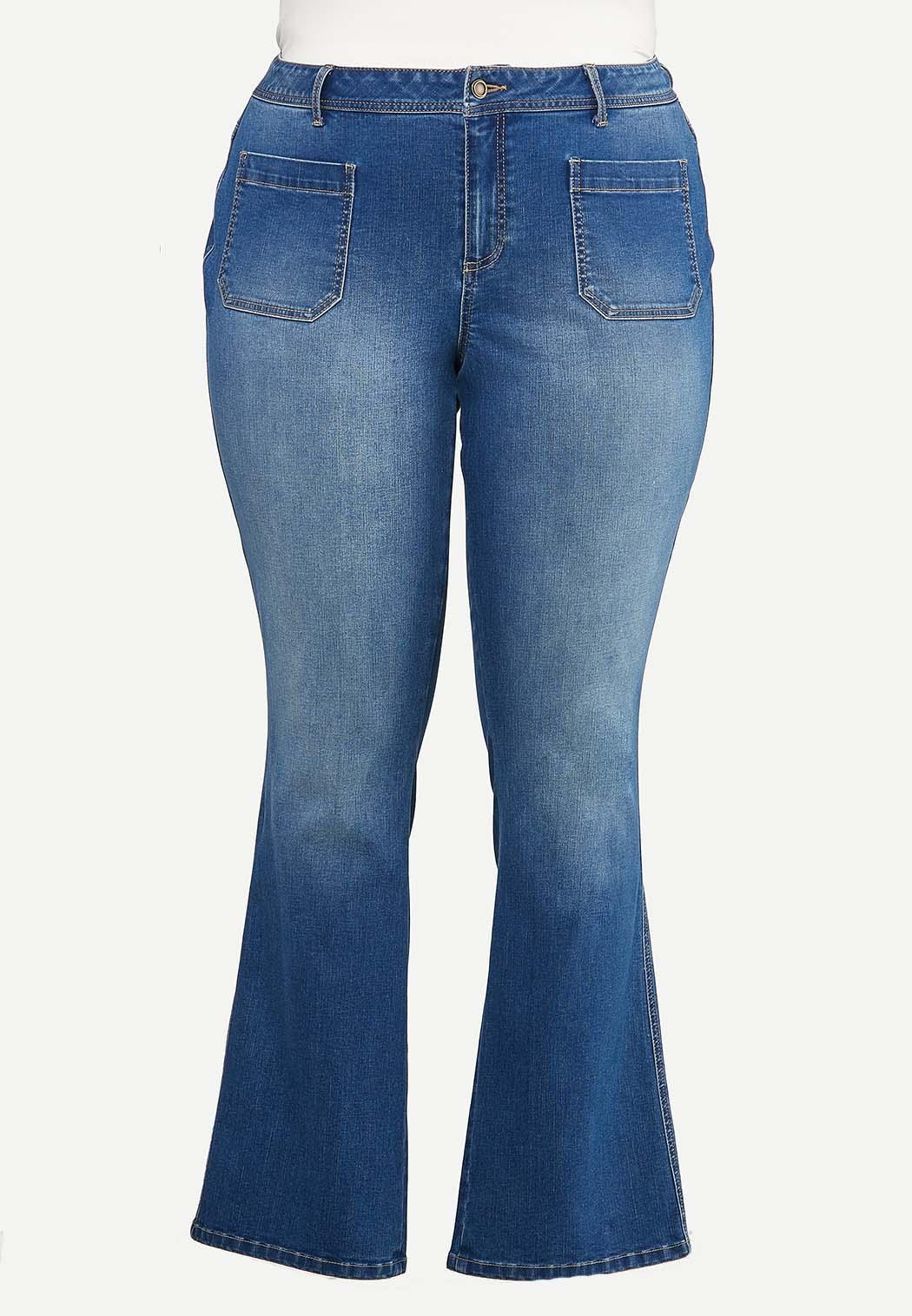 Plus Size Front Pocket Jeans