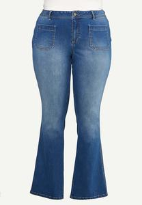 Plus Size Front Pocket Jeans