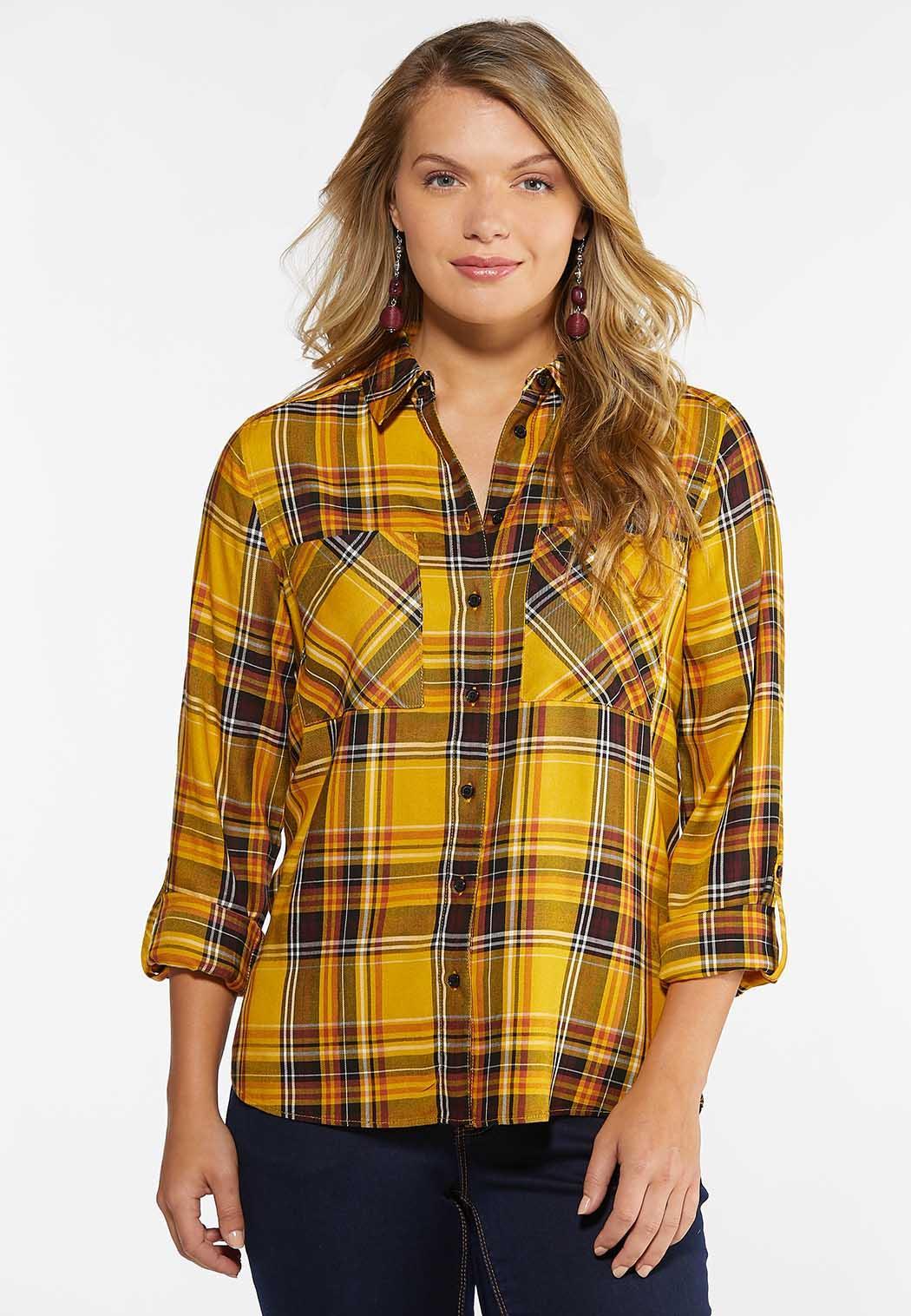 Gold Plaid Shirt