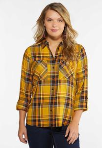 Gold Plaid Shirt