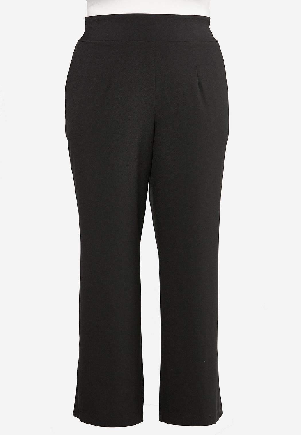 Plus Size Wide Leg Trouser Pants