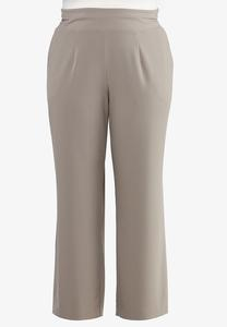 Plus Size Wide Leg Trouser Pants
