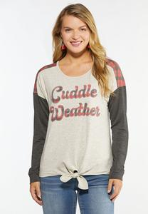 Plus Size Cuddle Weather Baseball Tee
