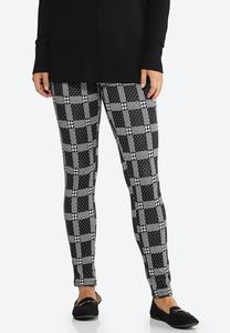Plaid Houndstooth Leggings