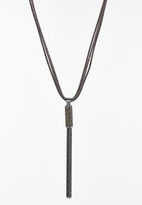 Rock Glitter Tassel Necklace