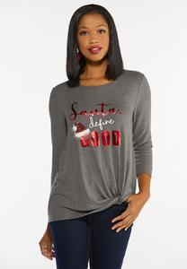 Plus Size Santa Define Good Top