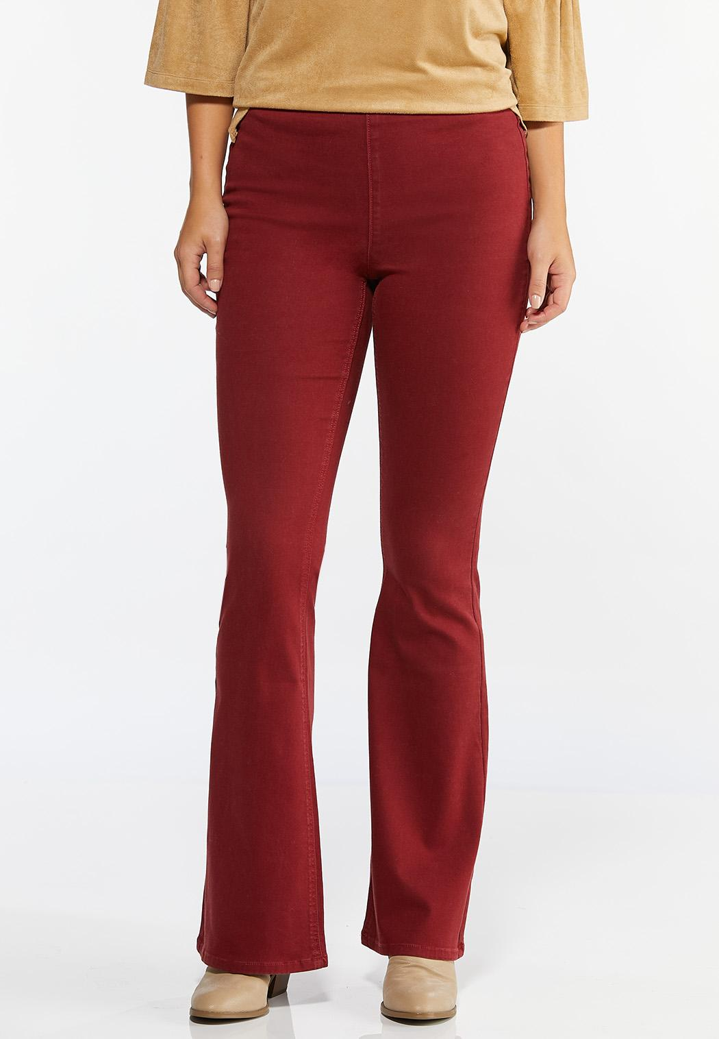 Red Flare Jeans