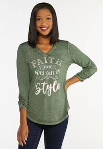 Plus Size Faith Ruched Sleeve Top