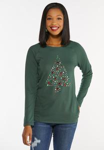 Plus Size Jeweled Christmas Tree Top