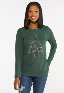 Plus Size Jeweled Christmas Tree Top