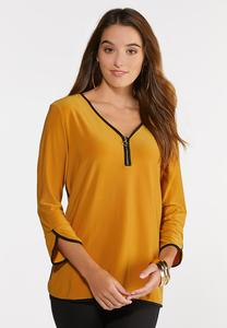 Contrast Tulip Sleeve Top