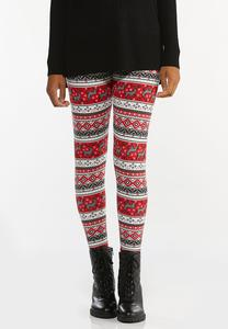 Deer Fair Isle Leggings