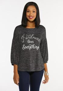 Plus Size Sequin Kindness Top