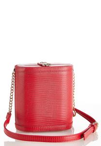 Red Lizard Box Crossbody