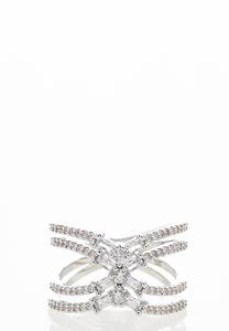 Criss Cross CZ Ring
