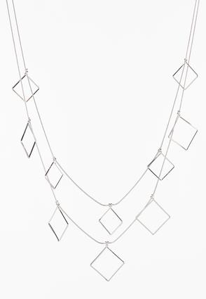 Layered Shaky Square Necklace