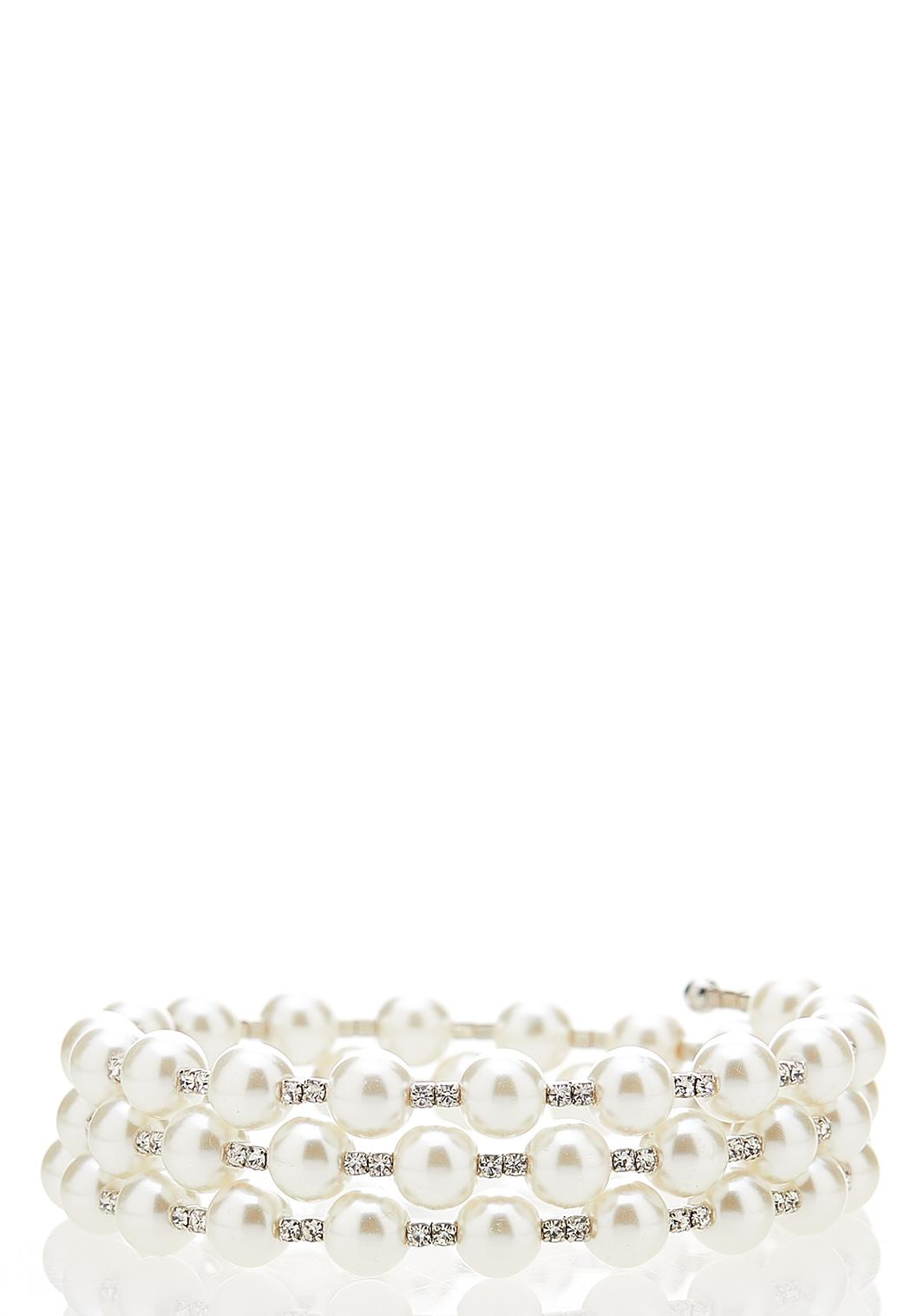 Pearl Coil Bracelet