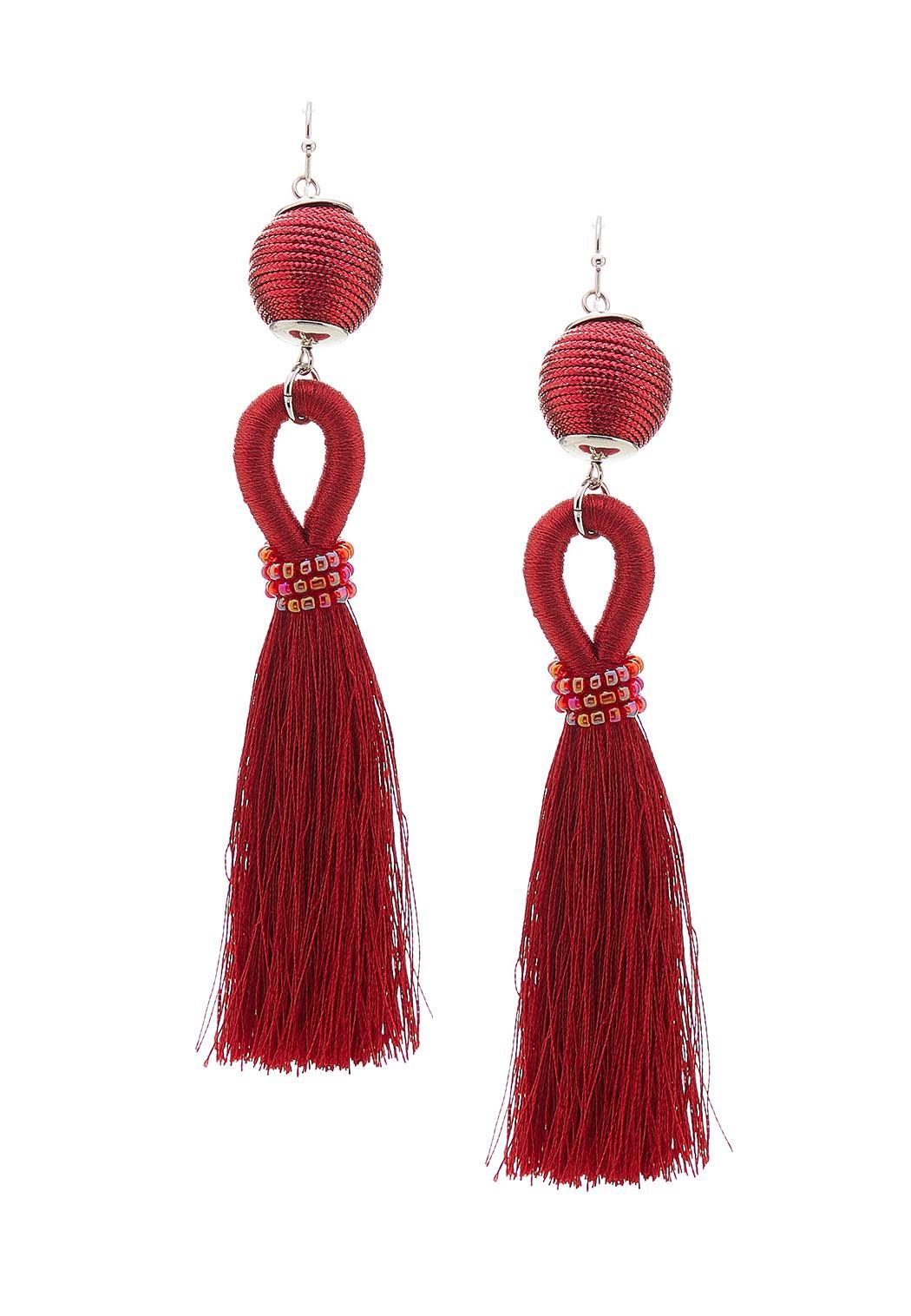 Thread Wrapped Tassel Earrings