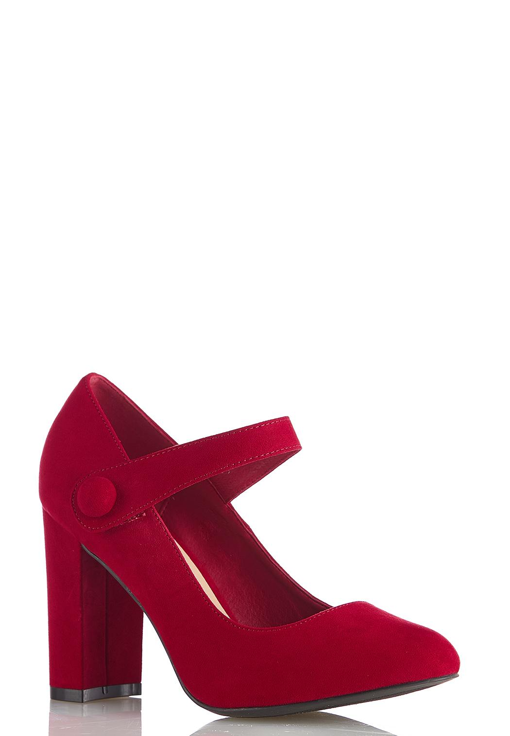 Mary Jane Velcro Strap Pumps