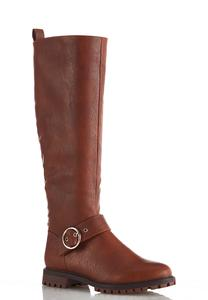 Wide Width Whipstitch Back Riding Boots