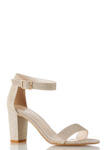 Metallic Embellished Heeled Sandals