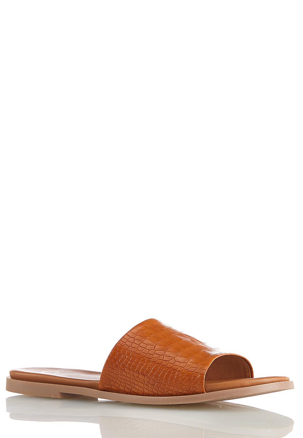 Croc Band Slide Sandals