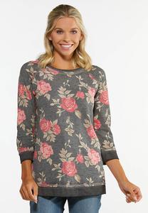 Cozy Floral Pullover Top