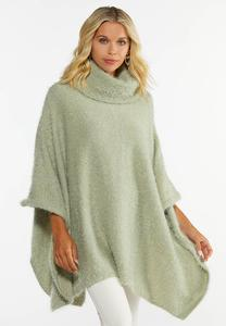 Eyelash Metallic Poncho