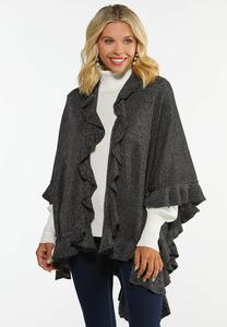 Shimmer Ruffled Wrap