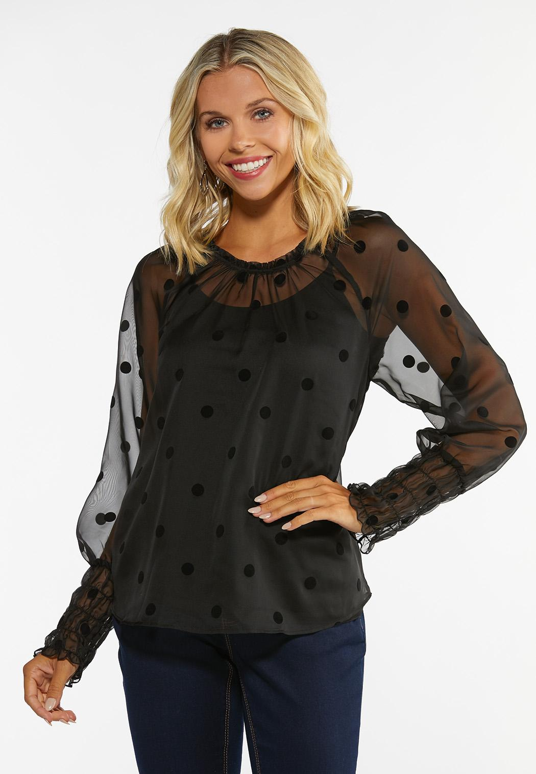 Dotted Flocked Top