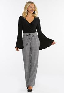 Dressy Houndstooth Jumpsuit