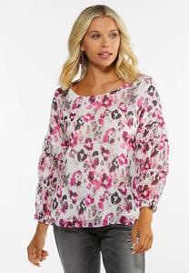 Plus Size Wild Flower Top