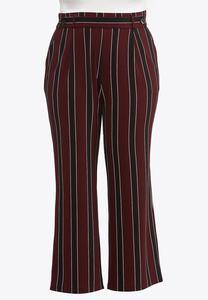 Plus Petite Striped Wide Leg Pants