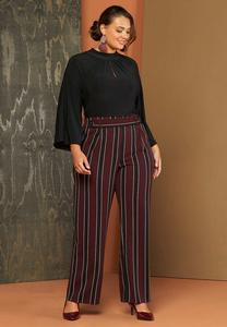 Plus Petite Striped Wide Leg Pants