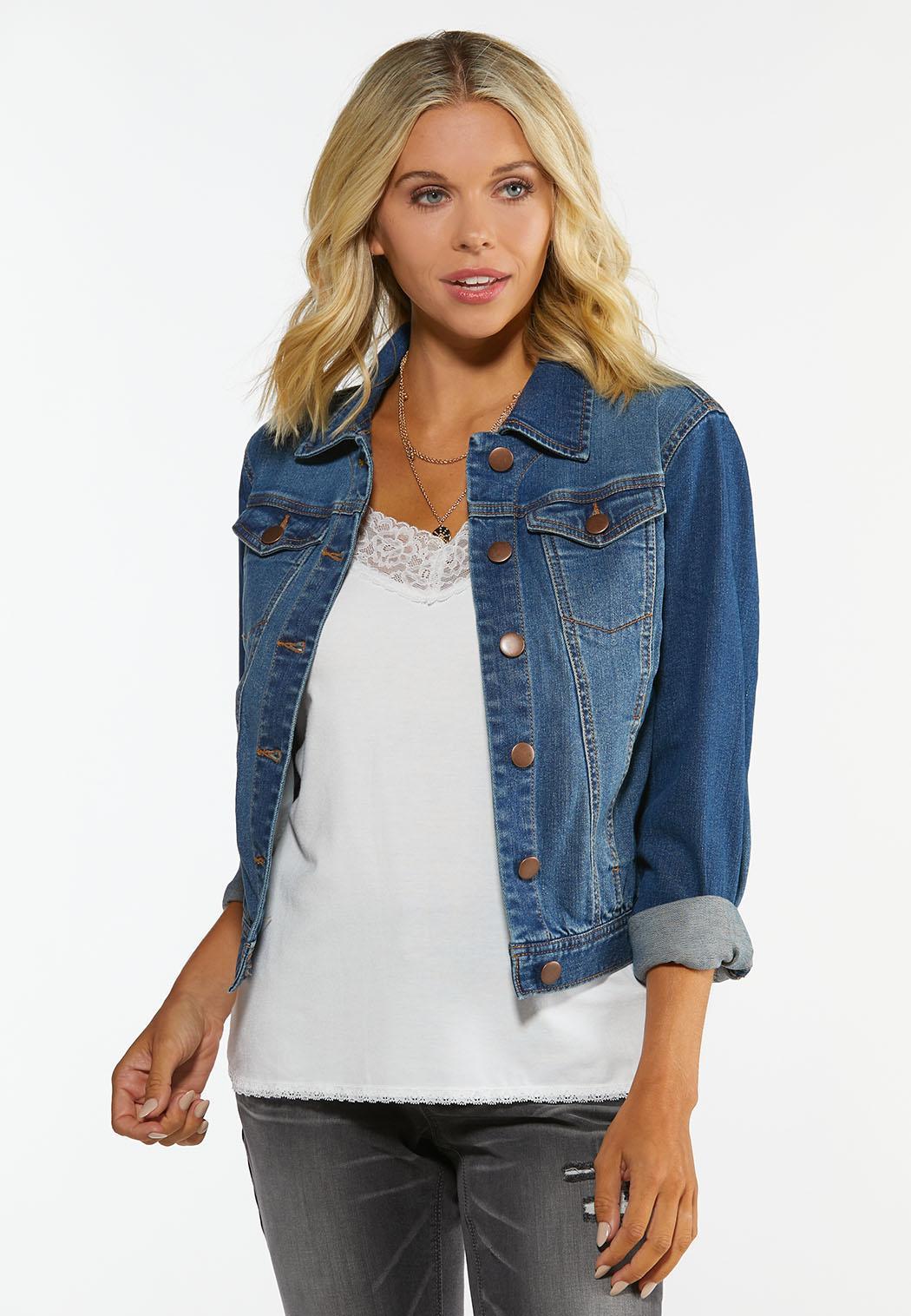 Plus Size Core Denim Jacket