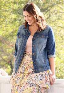Plus Size Core Denim Jacket